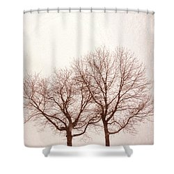 Two Trees#1 Shower Curtain by Susan Crossman Buscho