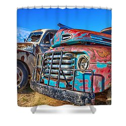 Two Trucks Shower Curtain
