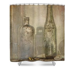 Two Vintage Bottles Shower Curtain