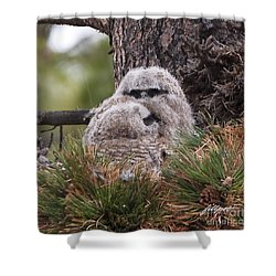 Two Whooo's  Shower Curtain