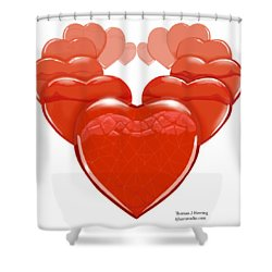Shower Curtain featuring the digital art Two Hearts Become One by Thomas J Herring
