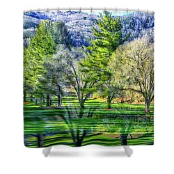 Two Worlds Appear  Shower Curtain