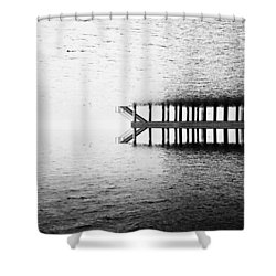 Shower Curtain featuring the photograph Two Worlds by Chevy Fleet