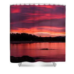 Twofold Bay Sunset Shower Curtain
