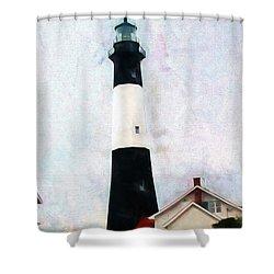 Tybee Lighthouse - Coastal Shower Curtain