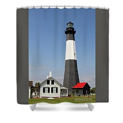 Tybee Lighthouse Georgia Shower Curtain