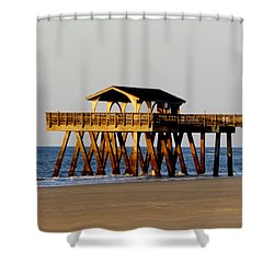 Tybee Pier Shower Curtain
