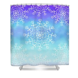 Tye Dye And Lace Shower Curtain