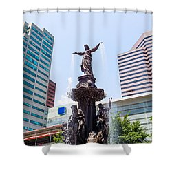 Tyler Davidson Fountain Cincinnati Ohio  Shower Curtain by Paul Velgos