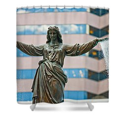 Tyler Davidson Fountain Shower Curtain by Keith Allen