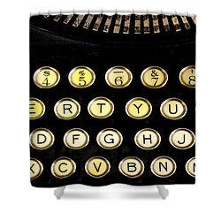 Typewriter Shower Curtain by Christopher Woods