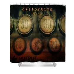 Typewriter Distortion Shower Curtain