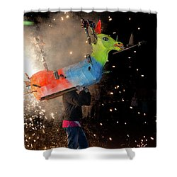 Typical Festival Plaza South Italy Shower Curtain