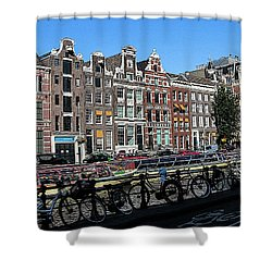 Typical Houses In Amsterdam Shower Curtain