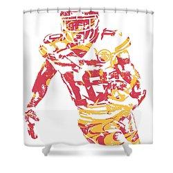 Tyreek Hill Kansas City Chiefs Pixel Art 5 Shower Curtain