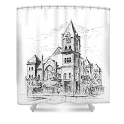 Tyrrell Historical Library Shower Curtain