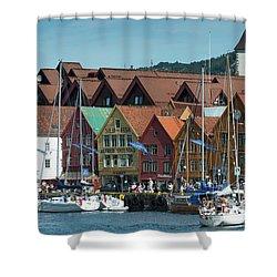 Tyske Bryggen Shower Curtain