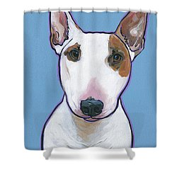 Shower Curtain featuring the painting Tyson by Nadi Spencer