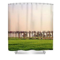 U Bein Bridge Shower Curtain