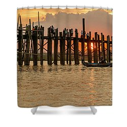 U-bein Bridge Shower Curtain