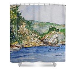 U Capu Biancu Shower Curtain