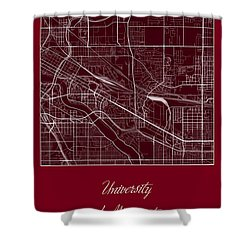 U Of M Street Map - University Of Minnesota Minneapolis Map Shower Curtain by Jurq Studio