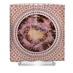 U S Capitol Dome Mural # 3 Shower Curtain