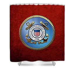 U. S. Coast Guard - U S C G Emblem Shower Curtain