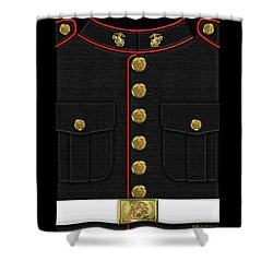 U S M C Dress Uniform Shower Curtain