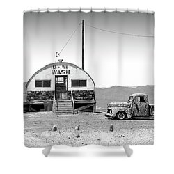 Shower Curtain featuring the photograph U - We Wash - Death Valley by Mike McGlothlen