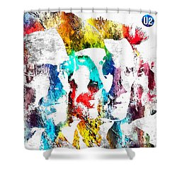 U2 Grunge Shower Curtain