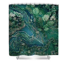 Ubud Rice Terrace Shower Curtain
