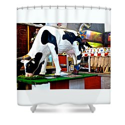 Udderly Unexpected Shower Curtain