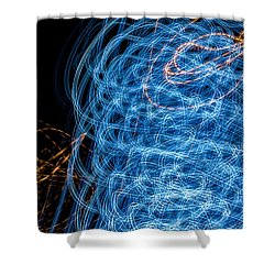 Ufa Neon Abstract Light Painting Sodium #7 Shower Curtain