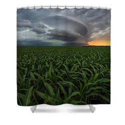 Shower Curtain featuring the photograph UFO by Aaron J Groen