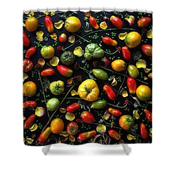 Heirloom Tomato Patterns Shower Curtain