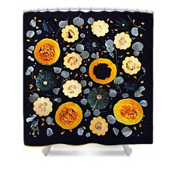Squash Patterns Shower Curtain