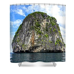 Uinhabited Island Shower Curtain