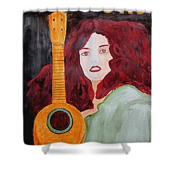Shower Curtain featuring the painting Uke by Sandy McIntire