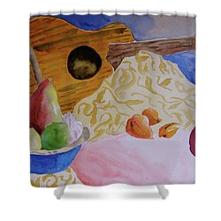 Ukelele Shower Curtain by Beverley Harper Tinsley
