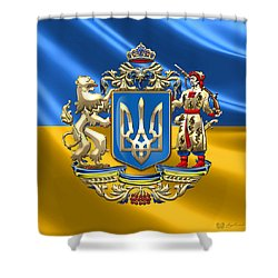 Ukraine - Greater Coat Of Arms  Shower Curtain
