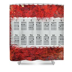 Ukulele Basic Chords Shower Curtain