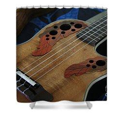Ukulele Shower Curtain by Sharon Mau
