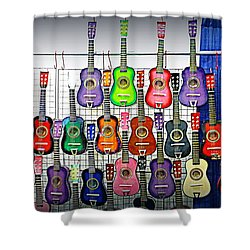 Shower Curtain featuring the photograph Ukuleles At The Fair by Lori Seaman
