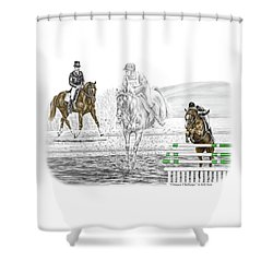 Ultimate Challenge - Horse Eventing Print Color Tinted Shower Curtain