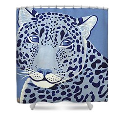 Ultramarine Jaguar Shower Curtain