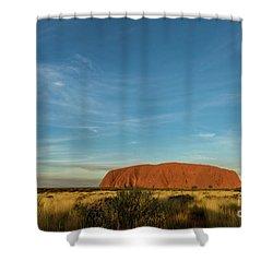 Shower Curtain featuring the photograph Uluru Sunset 01 by Werner Padarin