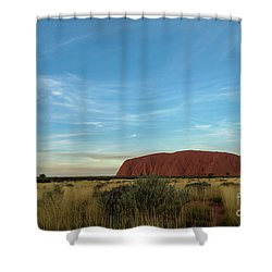 Shower Curtain featuring the photograph Uluru Sunset 02 by Werner Padarin