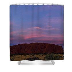 Shower Curtain featuring the photograph Uluru Sunset 04 by Werner Padarin