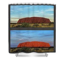Shower Curtain featuring the photograph Uluru Sunset by Werner Padarin